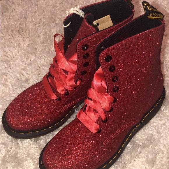a9805c315a40 Dr. Martens Shoes | 1460 Pascal Fine Glitter | Poshmark
